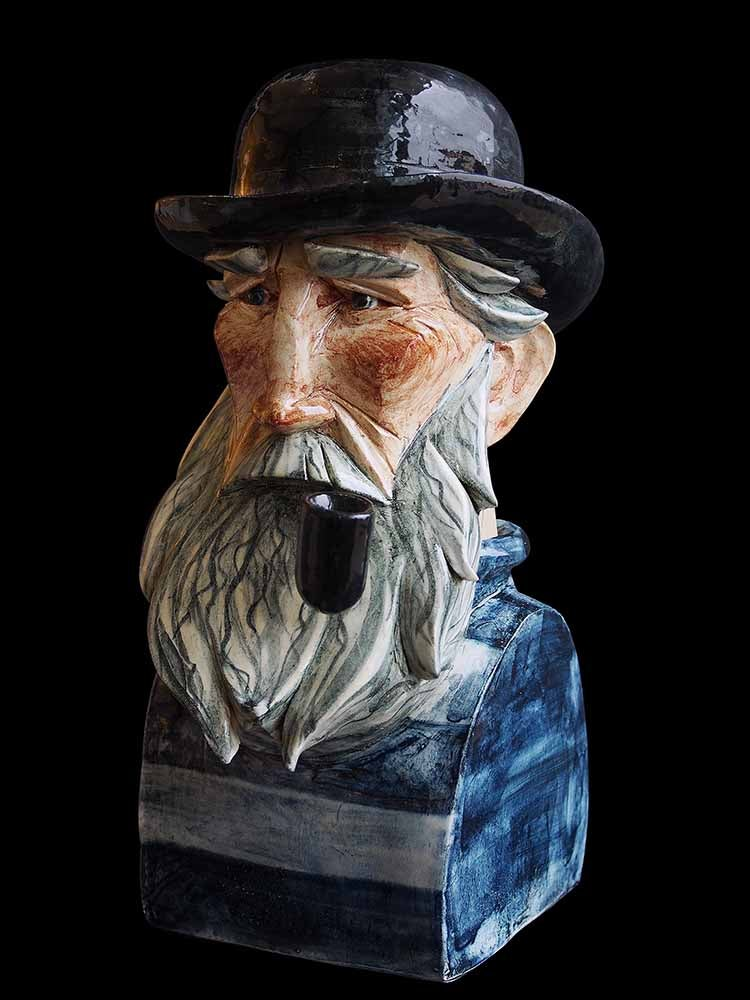 Image of JOE LAWRENCE CERAMIC SCULPTURE - 'THE SKIPPER'