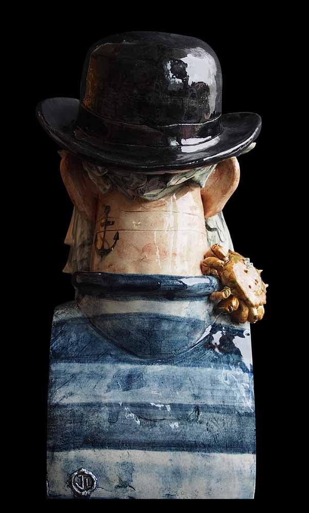 Image of JOE LAWRENCE CERAMIC SCULPTURE - 'THE SKIPPER'