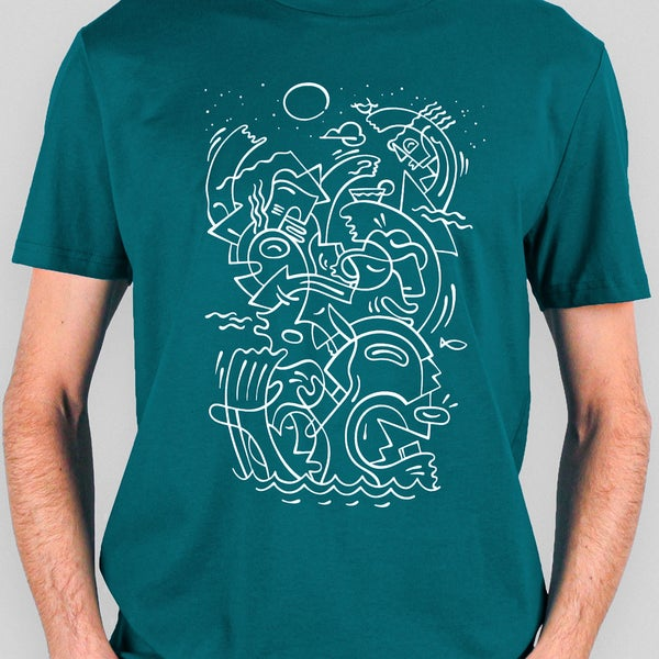 Image of Tee shirt Apéro 2 couleurs différentes