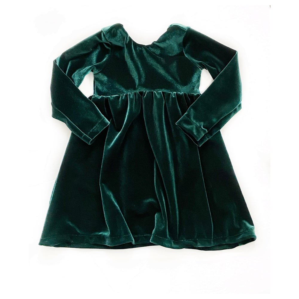 Image of Holiday Velvet Lenny Scoop Back Dress
