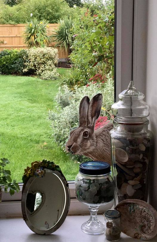 Image of Hartley Hare ~ Wall sticker