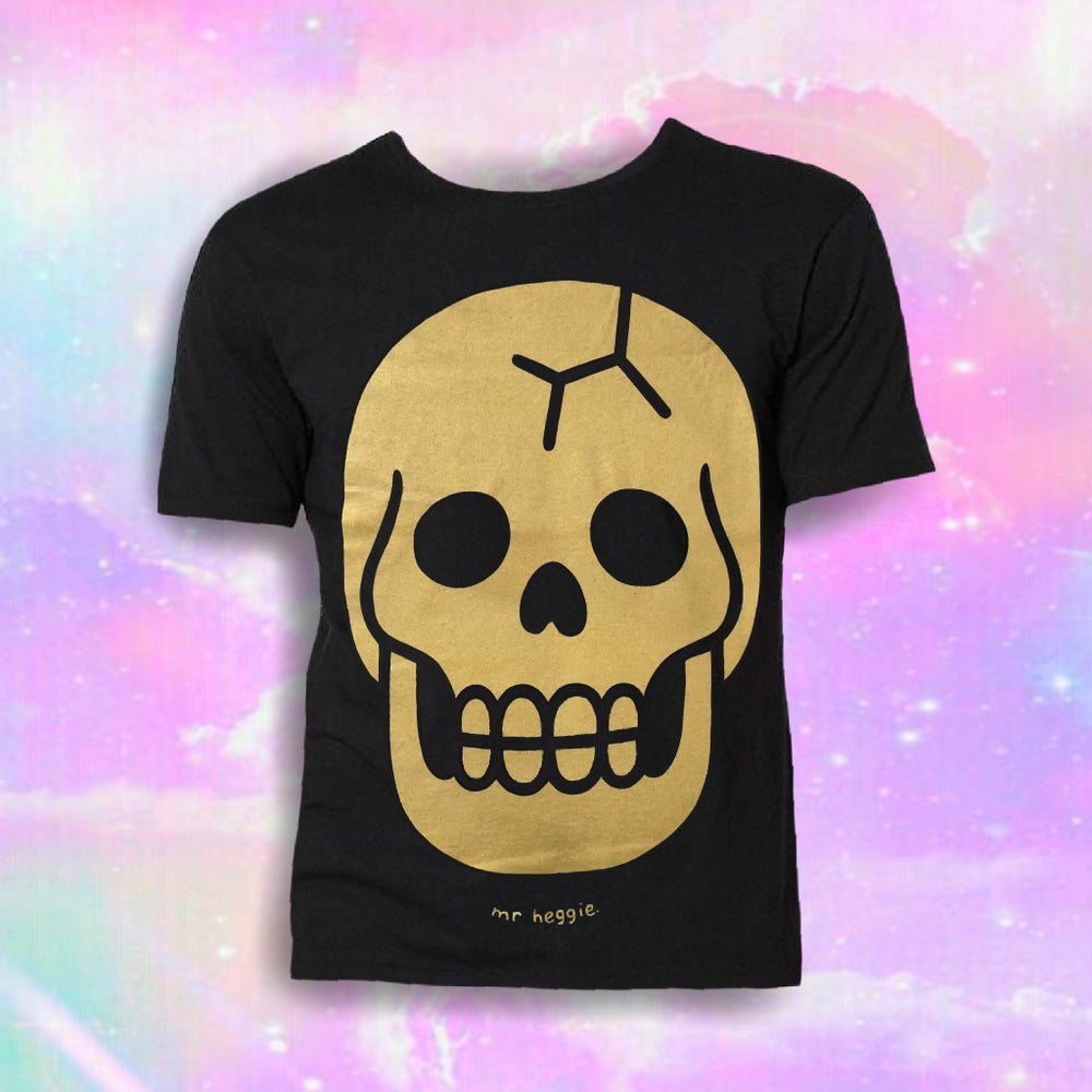 Image of The gold skull shirt