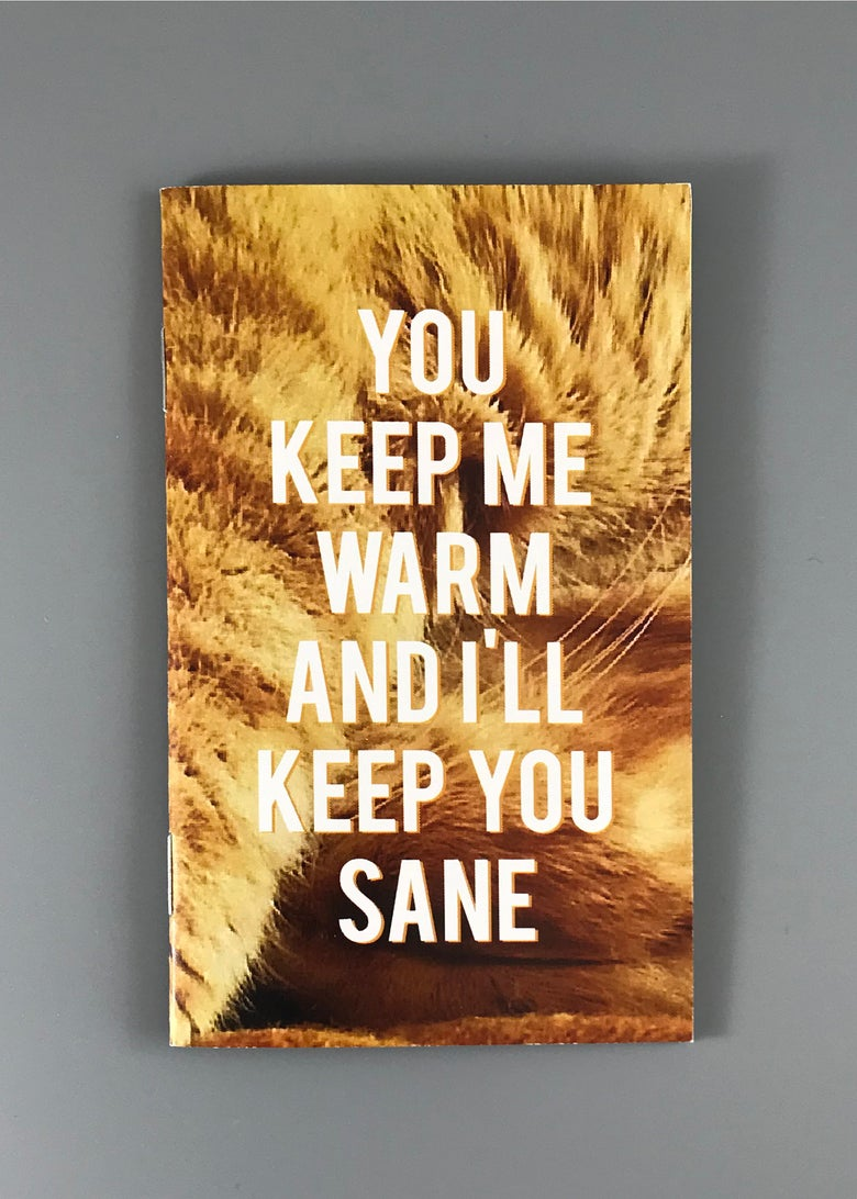 Image of You Keep Me Warm And I'll Keep You Sane Cat Zine