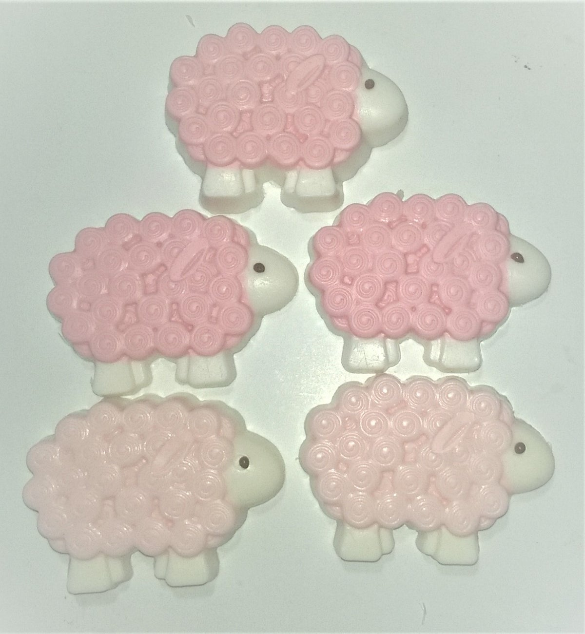 Image of The Little Goats Milk Sheep Soap Scented with Sweet Pea.