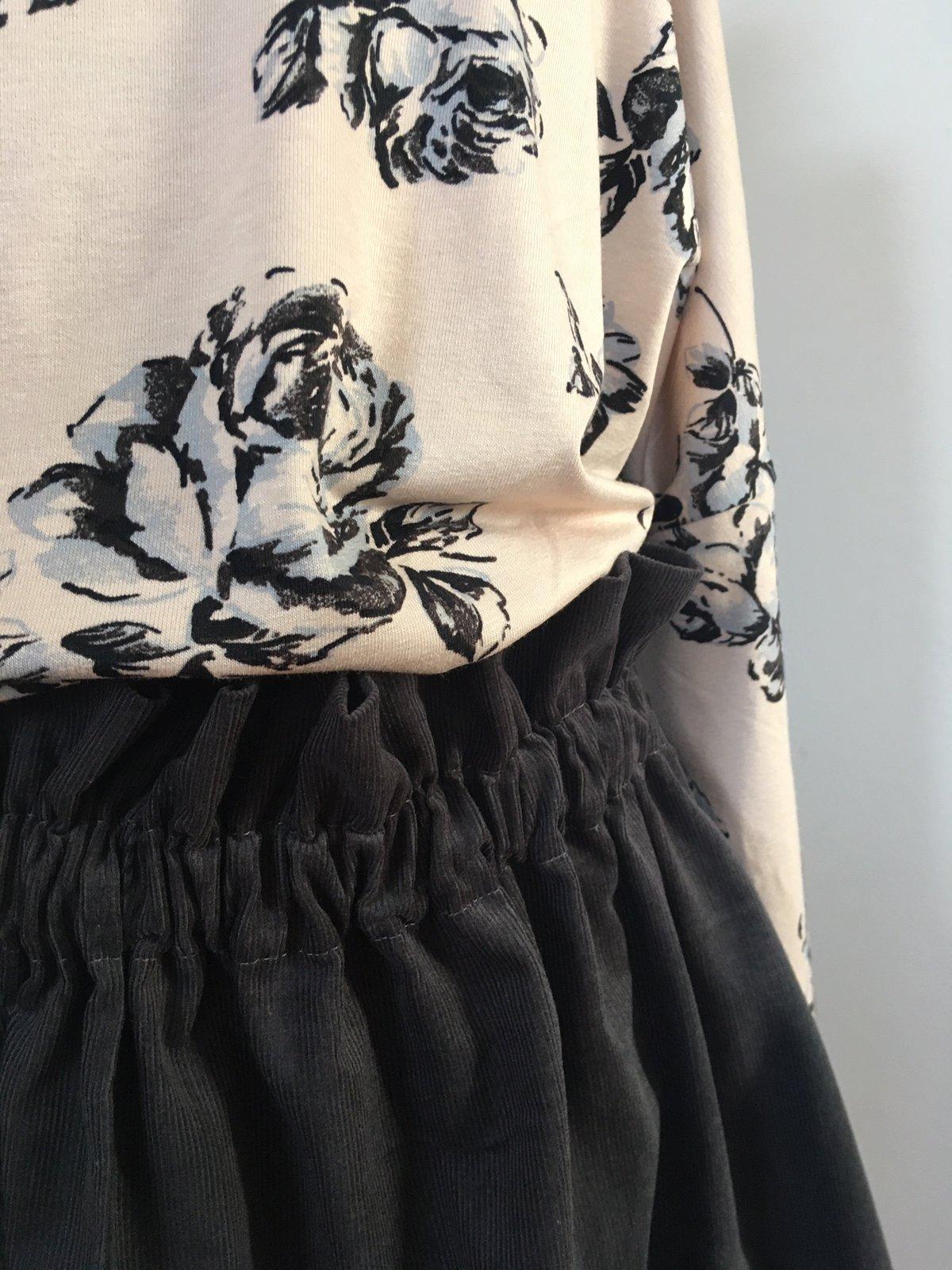 Market Skirt-grey corduroy