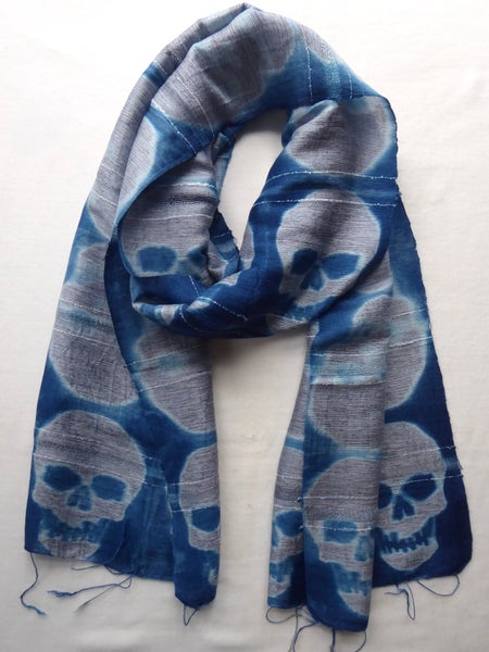 Image of Silver Skull — Not So Simple Stripe Scarf