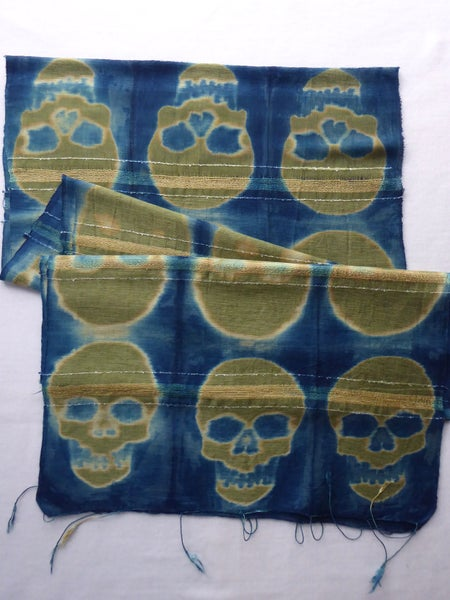 Image of Bamboo Skull — Not So Simple Stripe Scarf