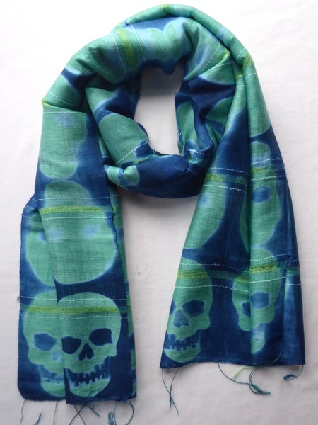 Image of Lime Skull — Not So Simple Stripe Scarf