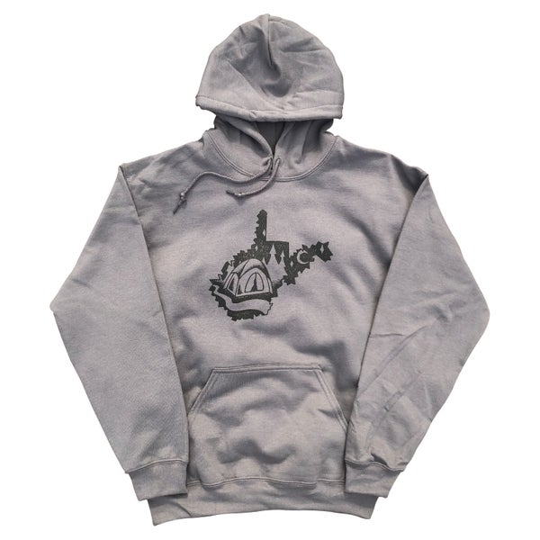 "Image of Charcoal ""West Virginia Campground"" Hoodie"