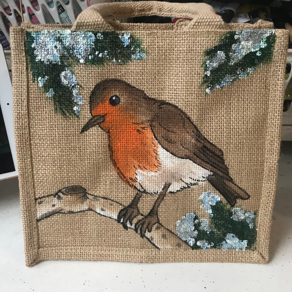 Image of Christmas Robin Bag