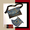 Fanny Pack and Matching Mask Designs By IvoryB Blue Gold