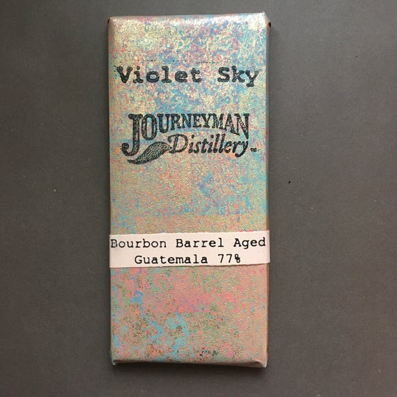 Image of Violet Sky Bourbon Cask-Aged 77% Dark Chocolate