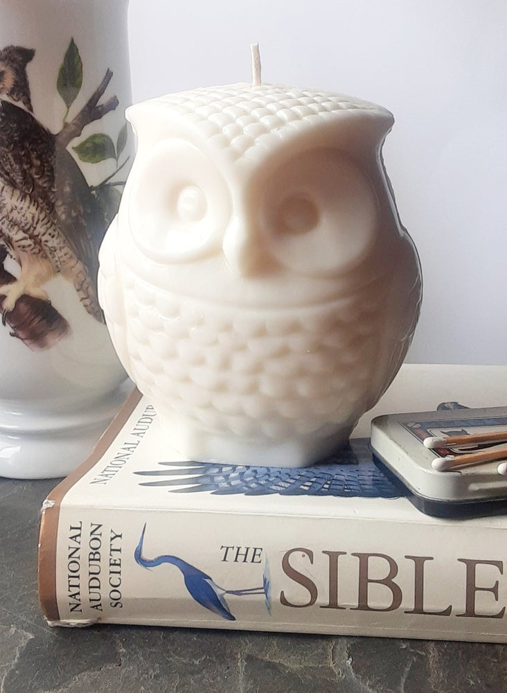 Image of Soy Wax Owl Pillar Candles