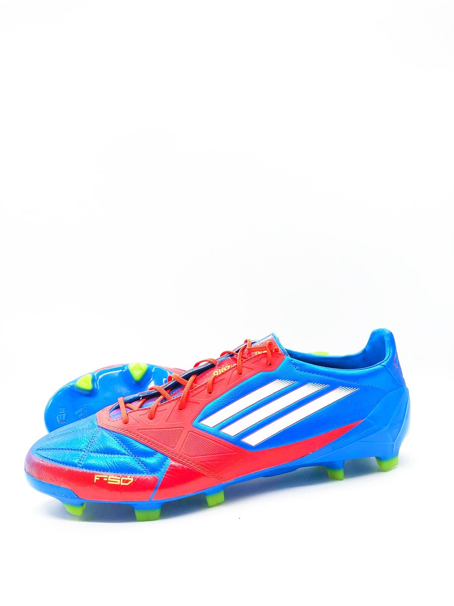 Image of Adidas F50 adizero FG blue Red leather