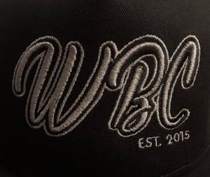 Image of Crew Wear Black Signature 5-Panel Flat Peak Cap with SnapBack