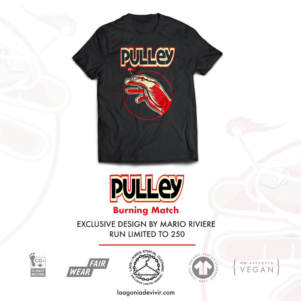 "Image of LADV_PEC01 - PULLEY ""Burning Match"" Tshirt"
