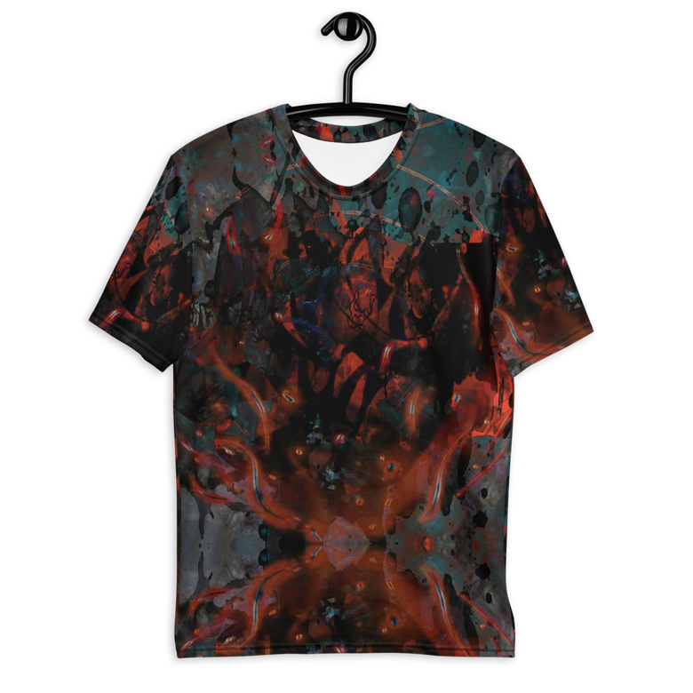 Image of smoke/blood all over print t