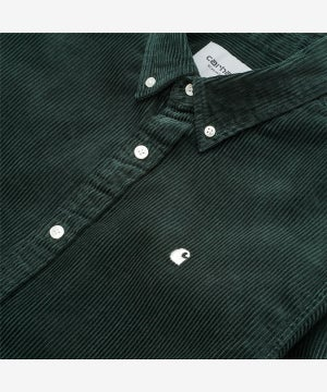 Image of CARHARTT WIP_MADISON CORD SHIRT :::DARK TEAL:::