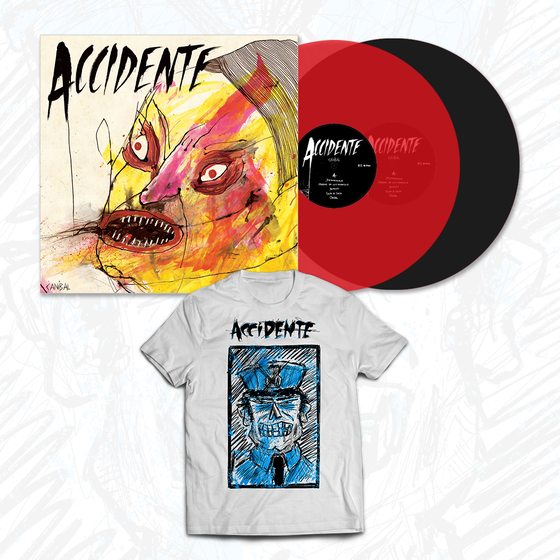 "Image of PRE-ORDER NOW! Accidente BUNDLE (""Caníbal"" LP + ""Policía No"" Tshirt)"