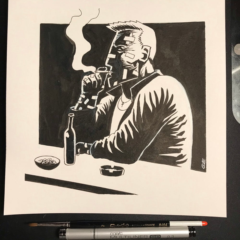 Image of Drawing of Marv From Sin City