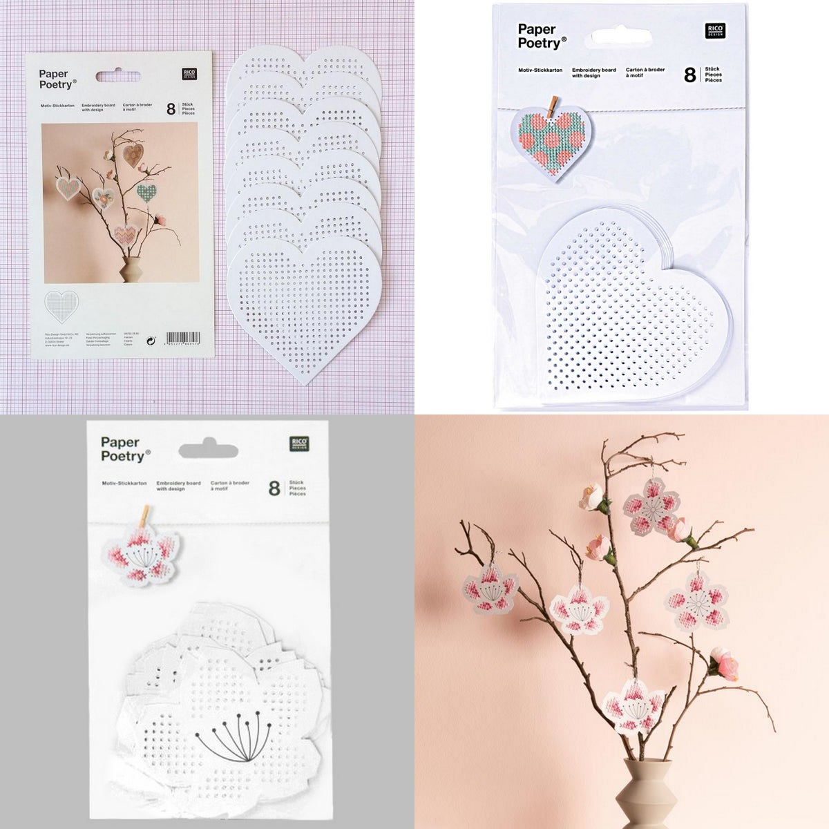 Image of Paper Poetry Embroidery Cards