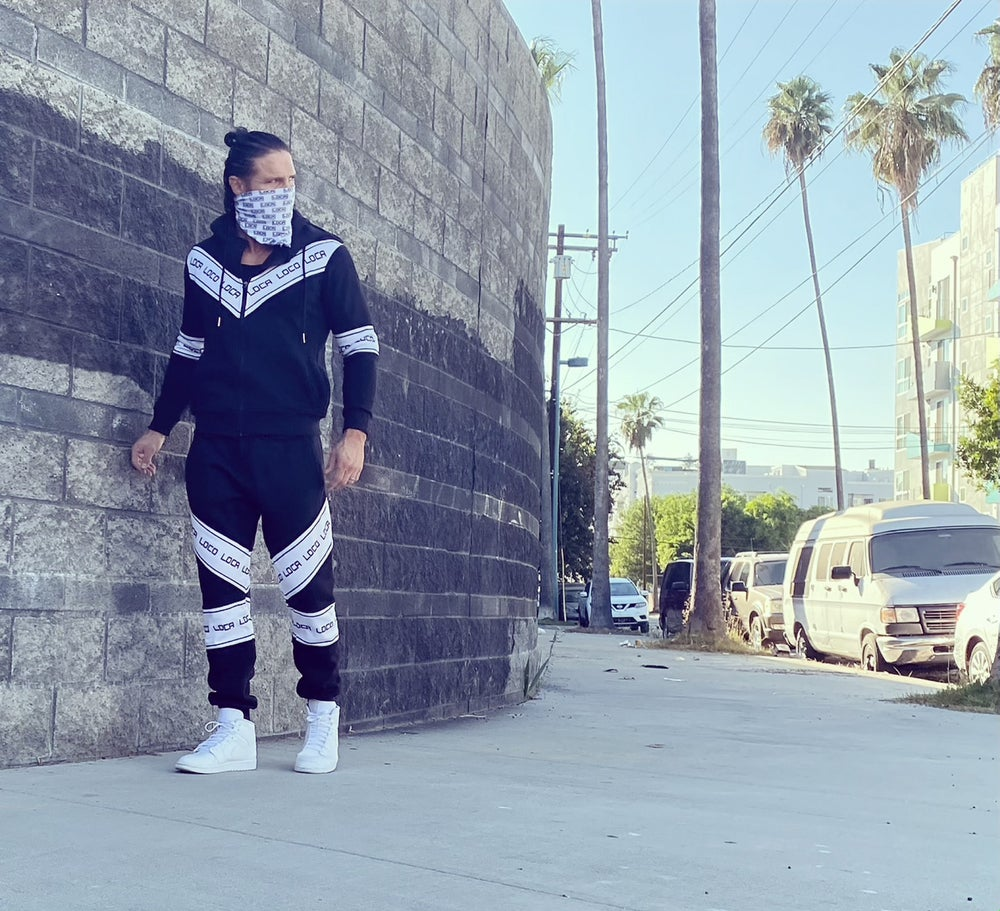 Image of Men's DIARIO Black and White Tracksuit
