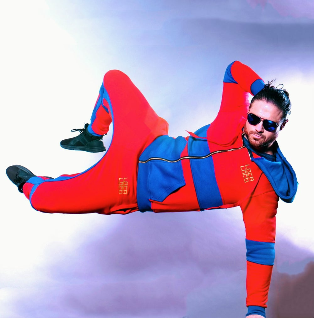 Image of Men's VAMOS Red and Blue Tracksuit