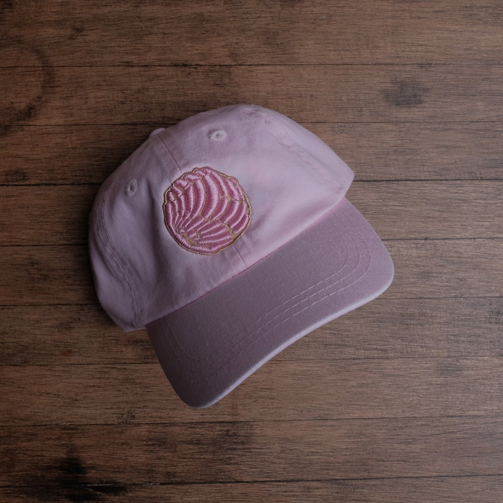 Kid's Pink Concha on Pink Dad Hat