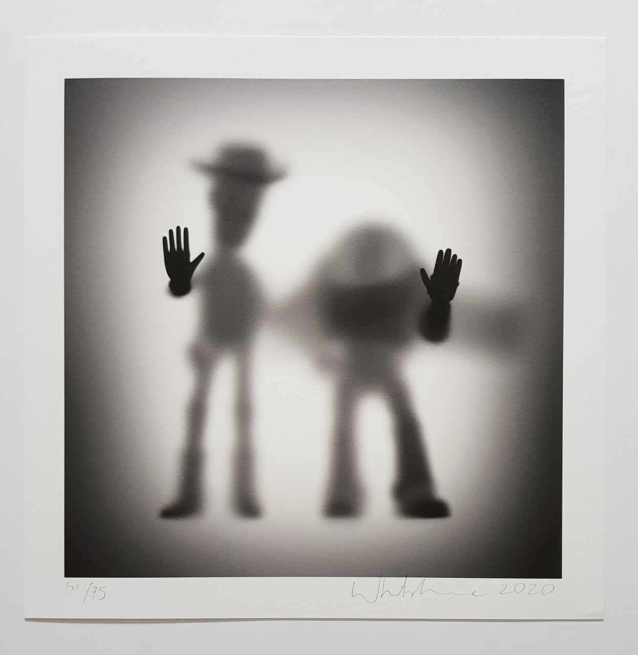 """Image of GONE """"COWBOY AND ASTRONAUT""""- LIMITED EDITION PRINT - 35CM X 35CM"""