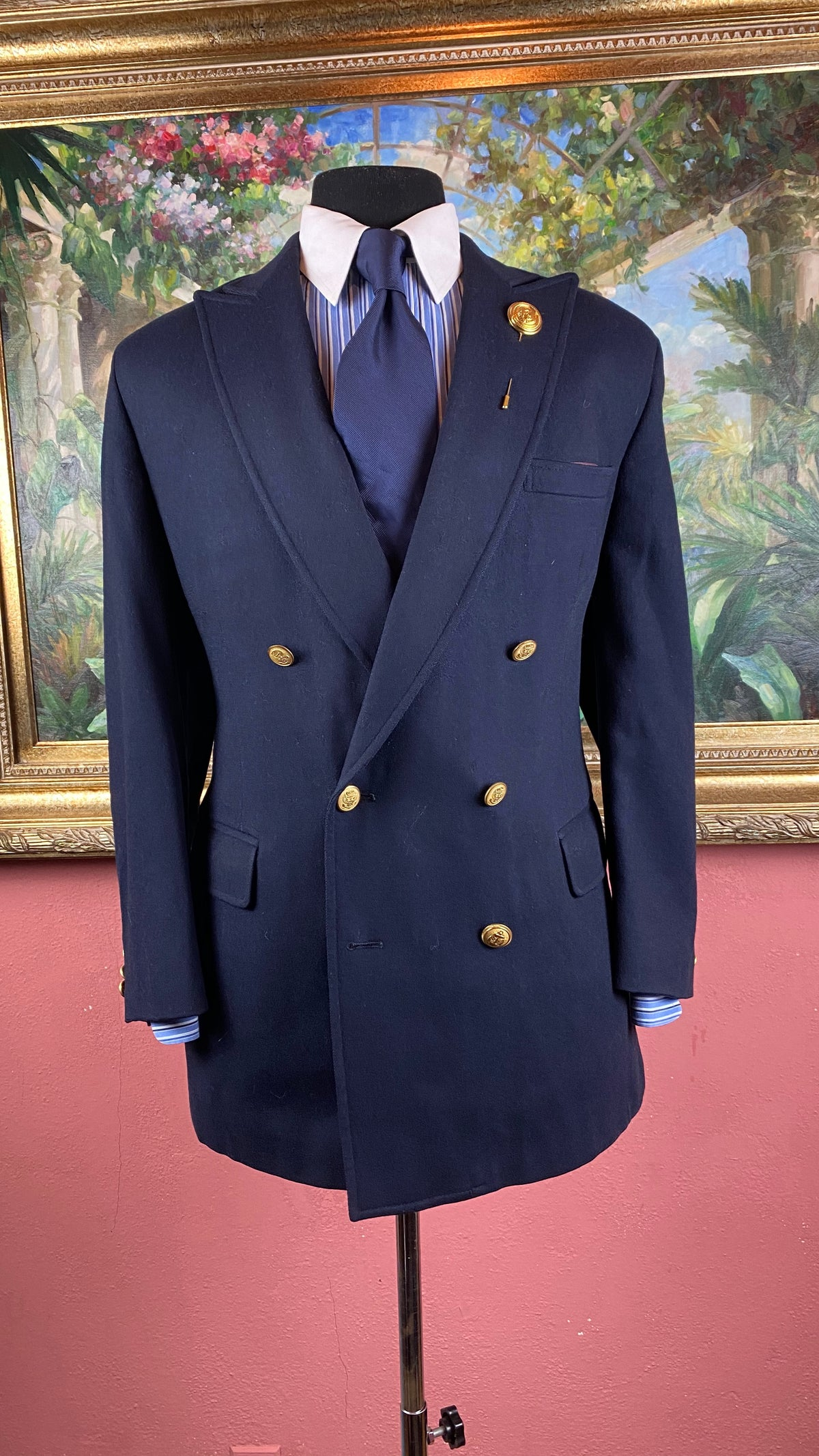 Image of VTG Navy Double Breasted Blazer
