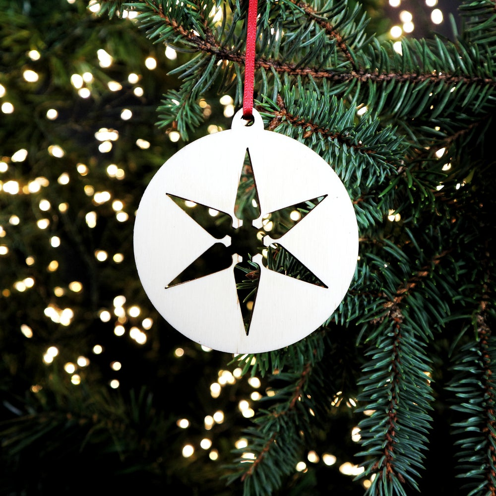 Image of Wooden Christmas Decorations - Star