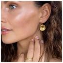Image 2 of Roma disc earrings