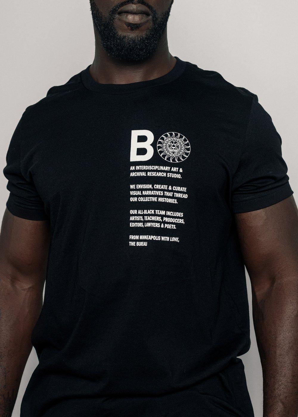 Mission T-shirt (Black/White)
