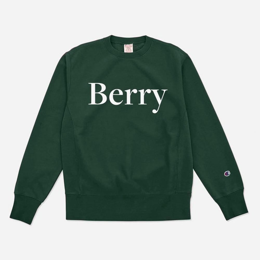 Berry crewneck (Green/White)