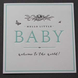 Image of Hello Little Baby Card