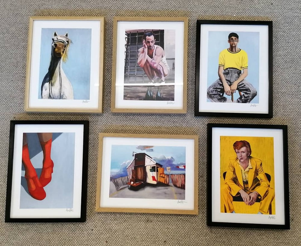 Image of framed and signed A4 prints