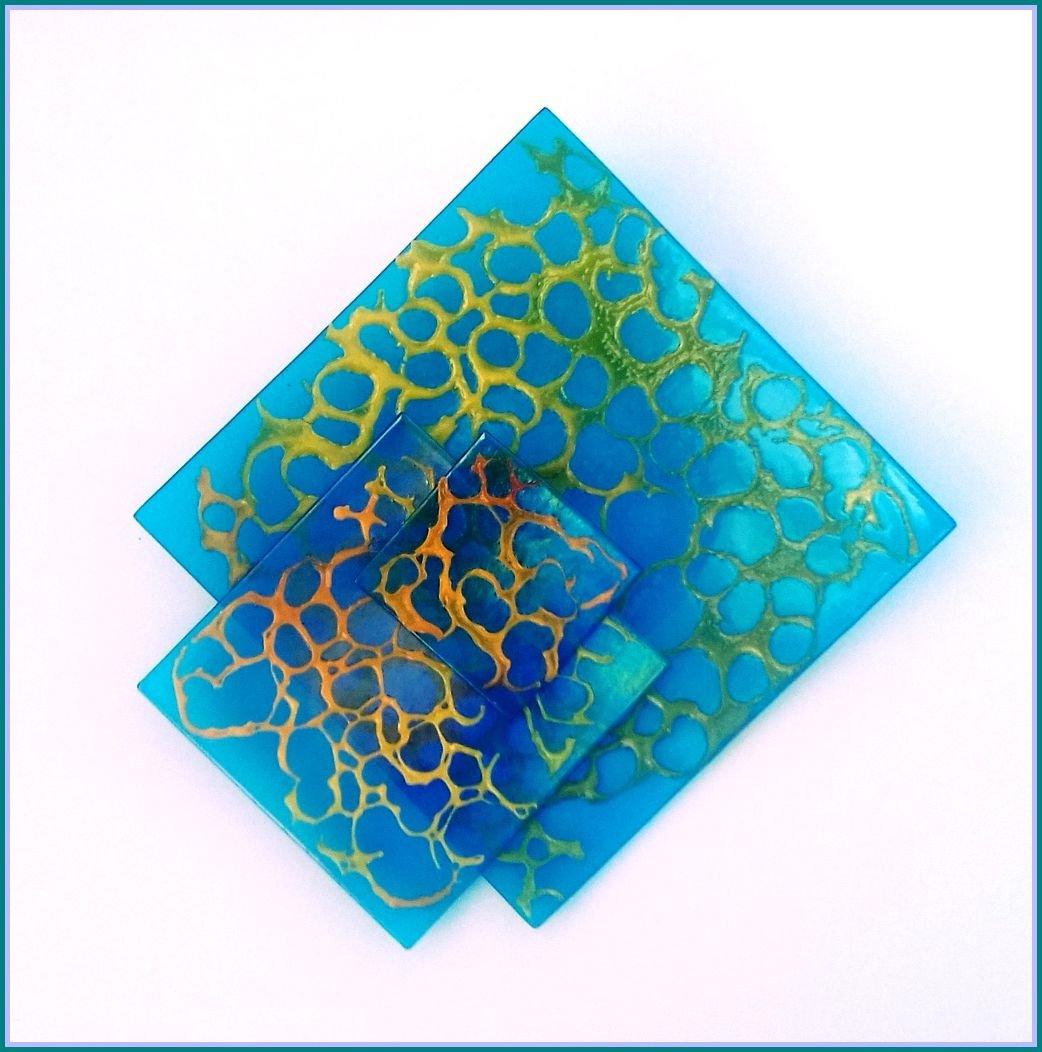 Sparkling shore  Irridescant Turquoise  Medium size