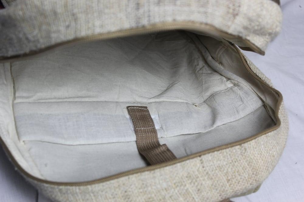Save The Elephants - Hemp Backpack | 100% Vegan | Eco Friendly | Handmade | Himalayan Hemp