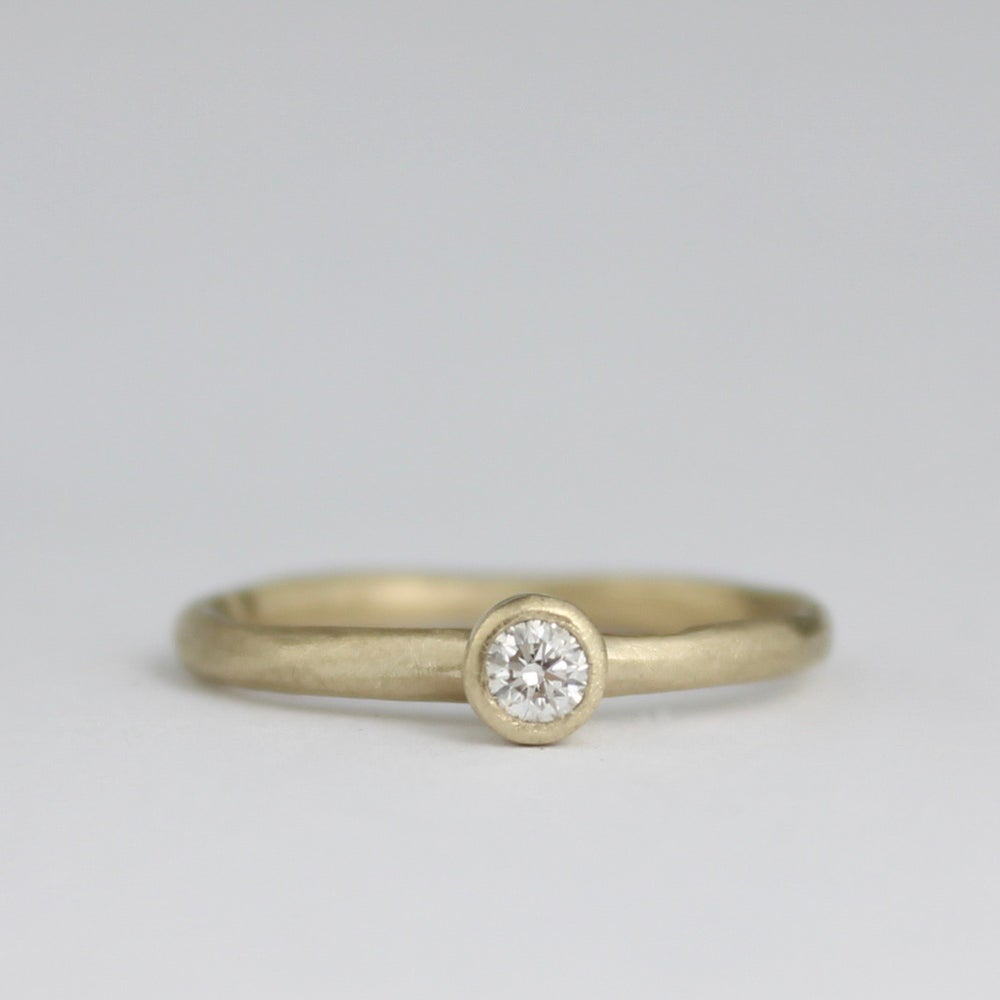 Image of The MINI Diamond ring in gold
