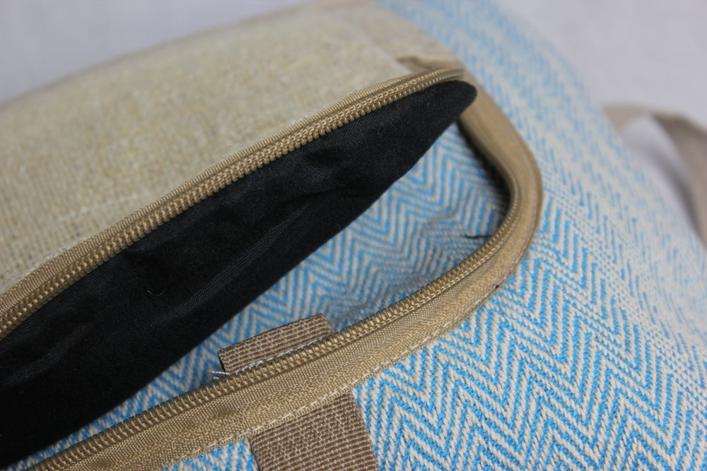 Turquoise - Moonchild Hemp Daypack | 100% Vegan | Eco Friendly | Handmade | Himalayan Hemp