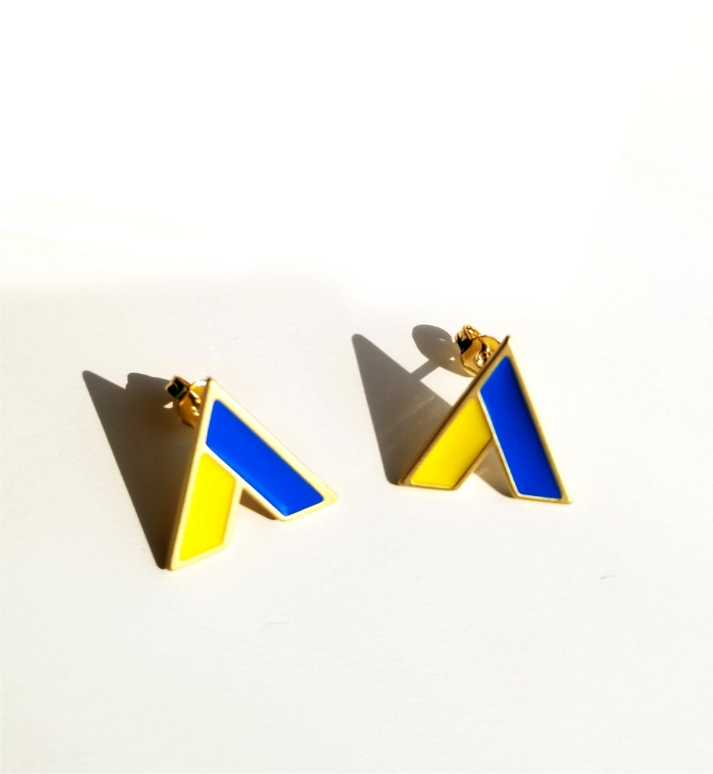 The A Earrings • Stainless steel • Silver