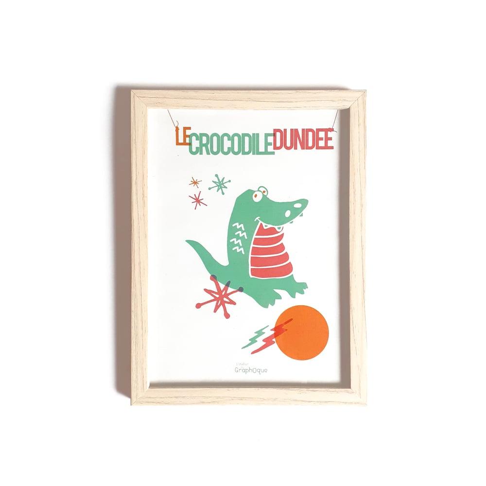 Image of Petit cadre déco - Crocodile Dundee