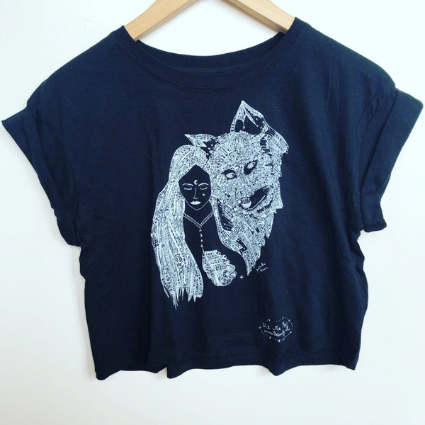 Image of Crop Top*Wild Woman & Wolf*