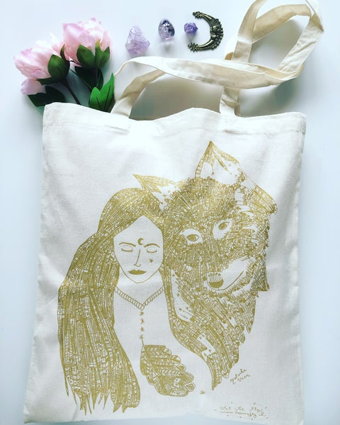 Image of Tote Bag *Wild Woman & Wolf*