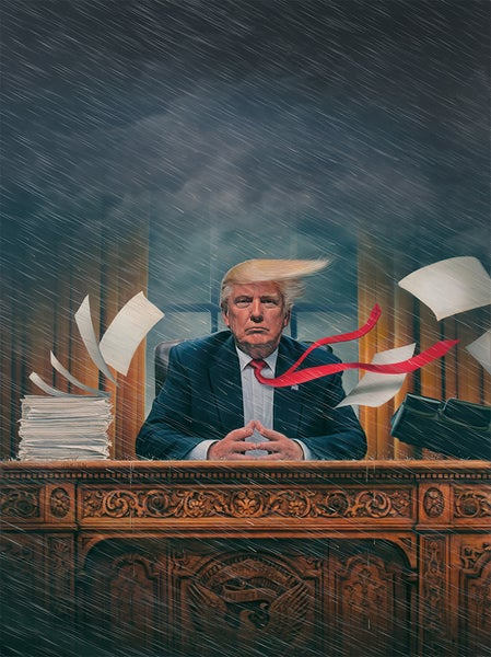 """Image of 'The Chaos President' 20"""" x 24"""" Archival Print"""