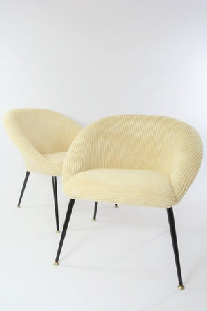 Image of Fauteuil coquille ronde ivoire
