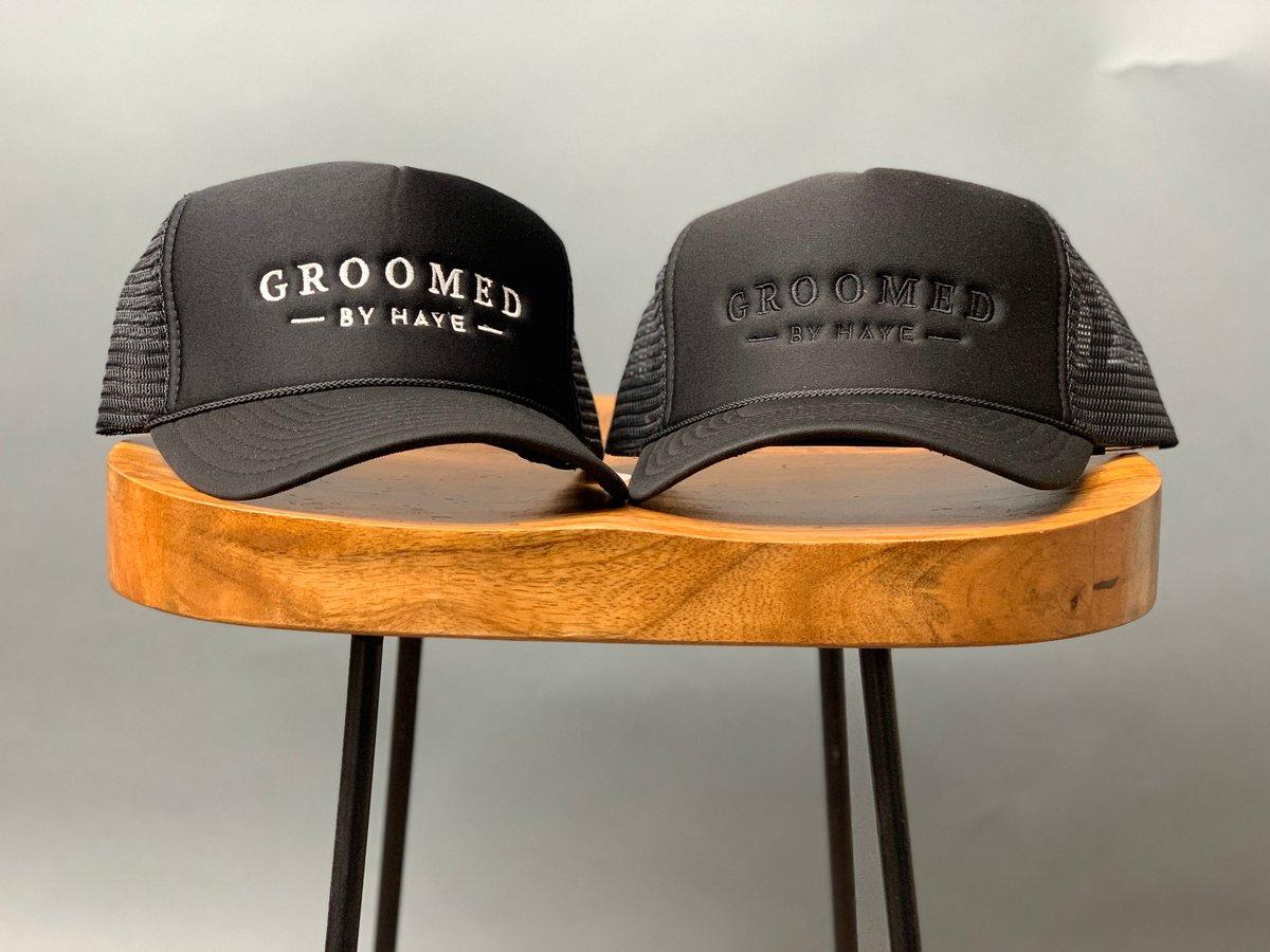 Image of GROOMED by Haye trucker hat...