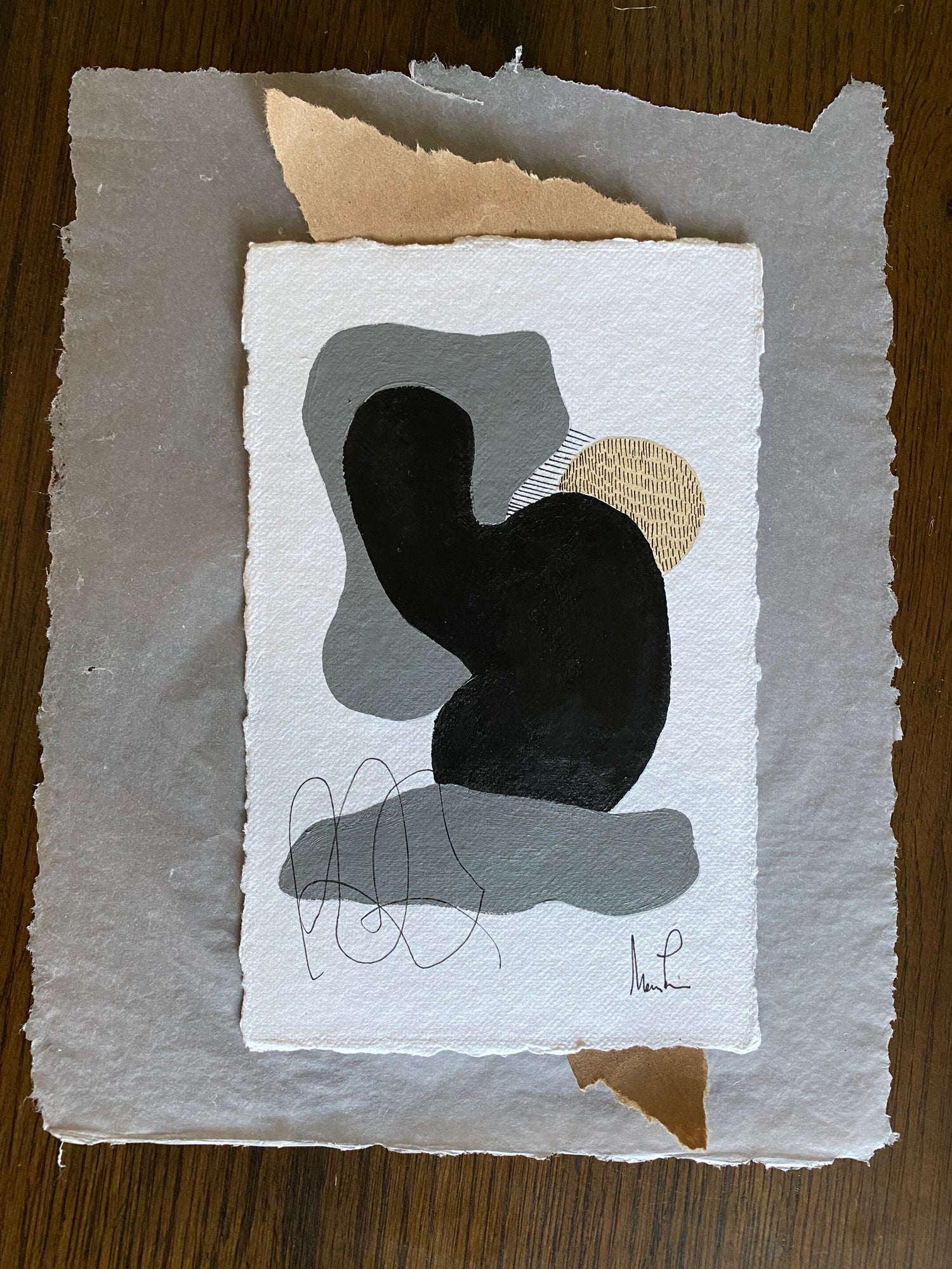 Image of ML• Shape Collection on Handmade Paper and Vellum 2