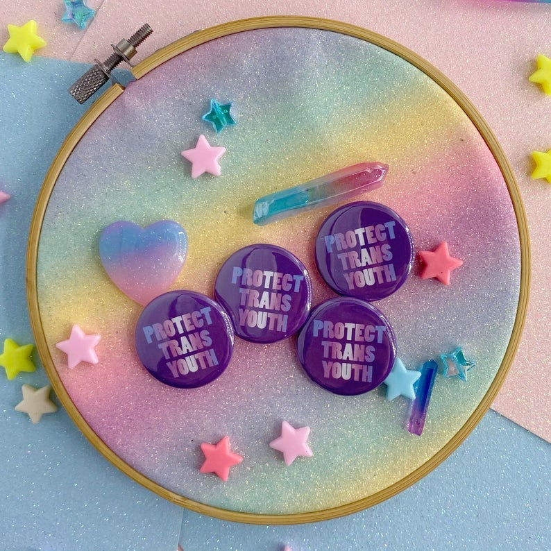 Image of Protect Trans Youth Button Badge