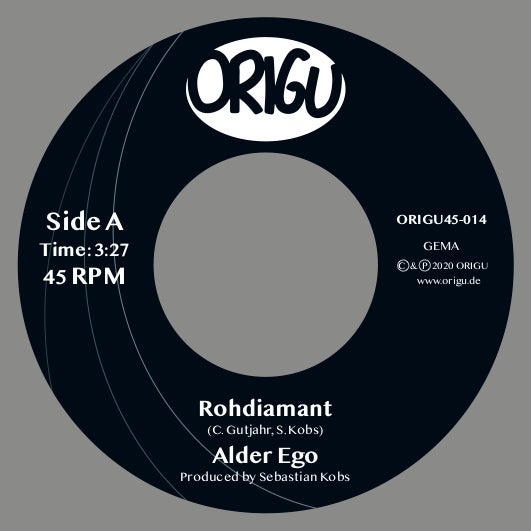 "Image of OUT NOW 7"" ALDER EGO - ROHDIAMANT B/W BROT & SPIELE 7"" (100 Copies only!)"